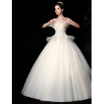 Ball Gown Floor-length Wedding Dress -Strapless Lace Wedding Dresses
