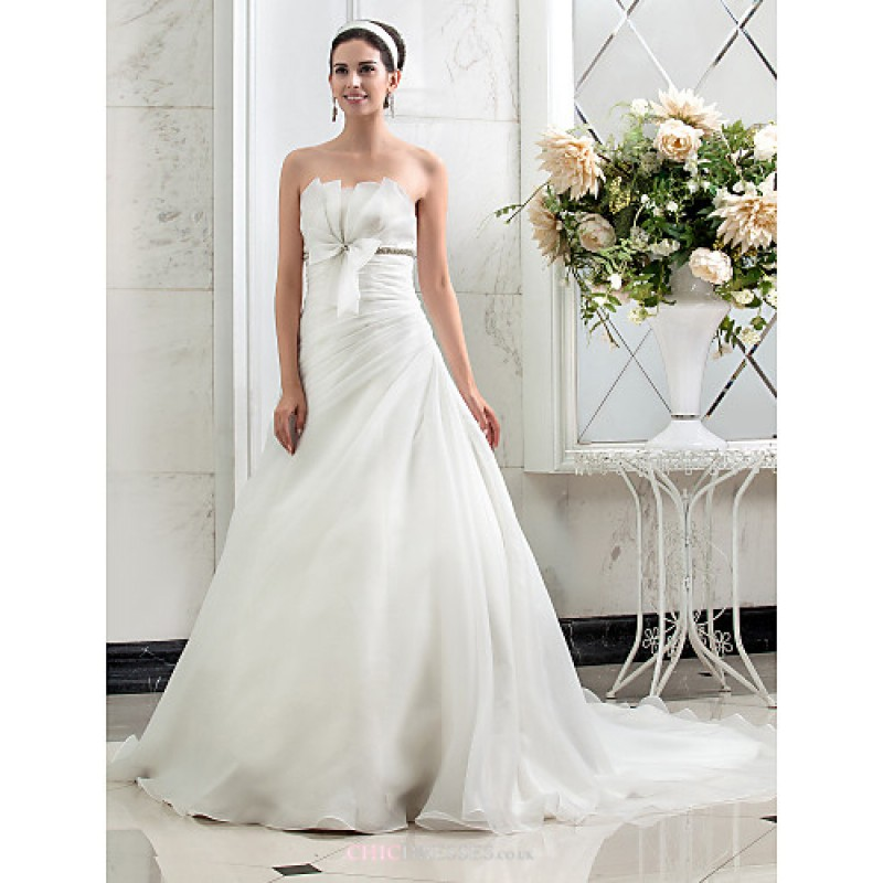 A line princess plus sizes wedding dress ivory court for Princess plus size wedding dresses