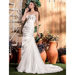 Trumpet/Mermaid Plus Sizes Wedding Dress - Ivory Court Train Sweetheart Taffeta