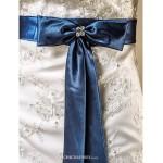 Trumpet/Mermaid Plus Sizes Wedding Dress - Ivory Chapel Train Strapless Satin Wedding Dresses