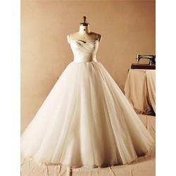 A-line Floor-length Wedding Dress -Sweetheart Tulle