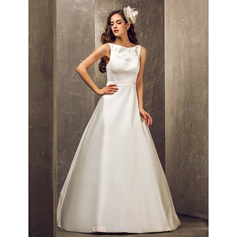 A line plus sizes wedding dress ivory floor length for Plus size wedding dresses uk