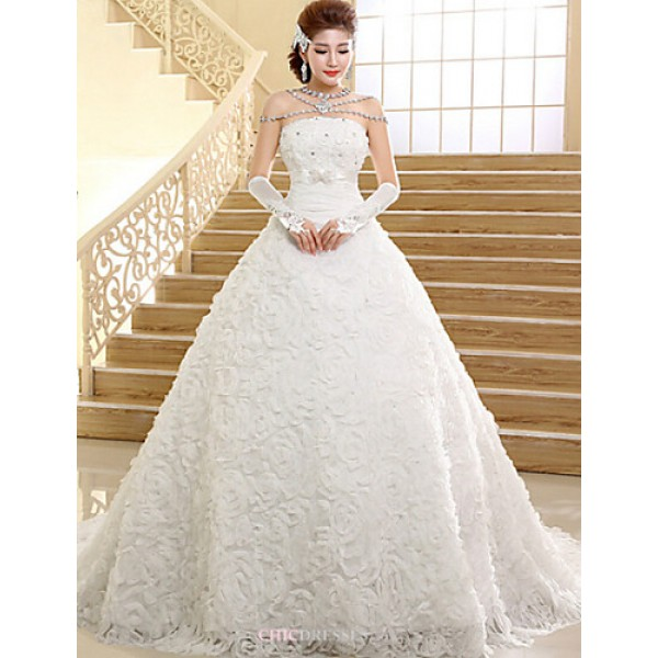 Ball Gown Wedding Dresses Uk: Ball Gown Chapel Train Wedding Dress -Strapless Lace,Cheap