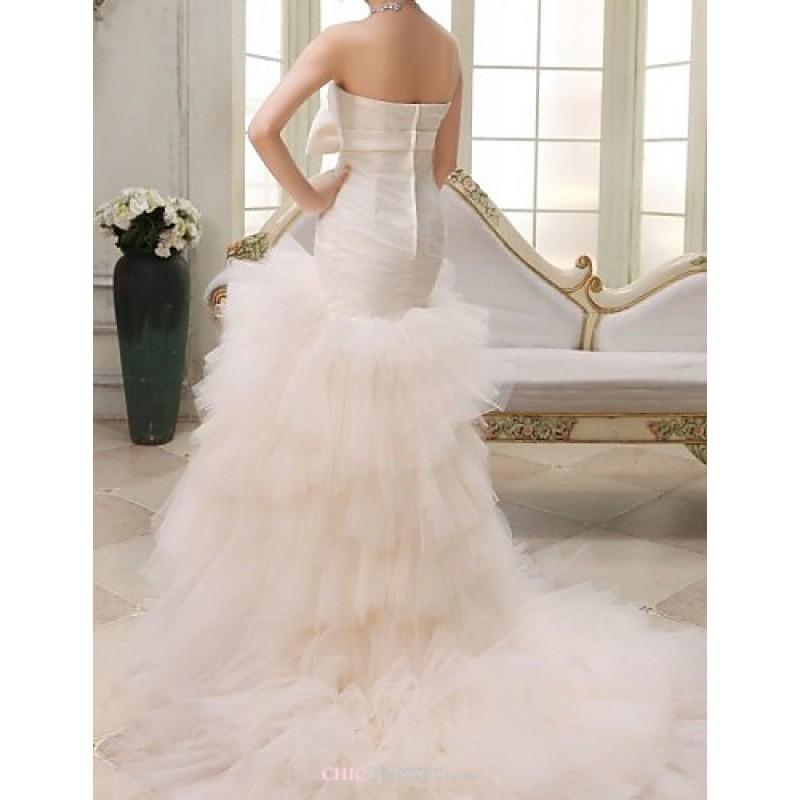 Ball Gown,Trumpet/Mermaid Court Train Wedding Dress