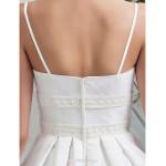 A-line/Princess Plus Sizes Wedding Dress - Ivory Floor-length Spaghetti Straps Taffeta Wedding Dresses