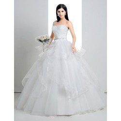 Ball Gown Floor Length Wedding Dress Sweetheart Lace