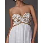 Sheath/Column Plus Sizes Wedding Dress - White Floor-length Sweetheart Chiffon Wedding Dresses