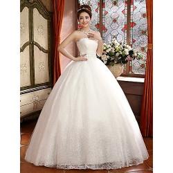Ball Gown Floor-length Wedding Dress -Strapless Satin