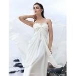 A-line Court Train Wedding Dress - Sweetheart Georgette Wedding Dresses