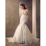 Trumpet/Mermaid Plus Sizes Wedding Dress - Ivory Court Train Sweetheart Tulle/Lace Wedding Dresses