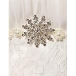 Trumpet/Mermaid Wedding Dress Court Train Strapless Lace Wedding Dresses