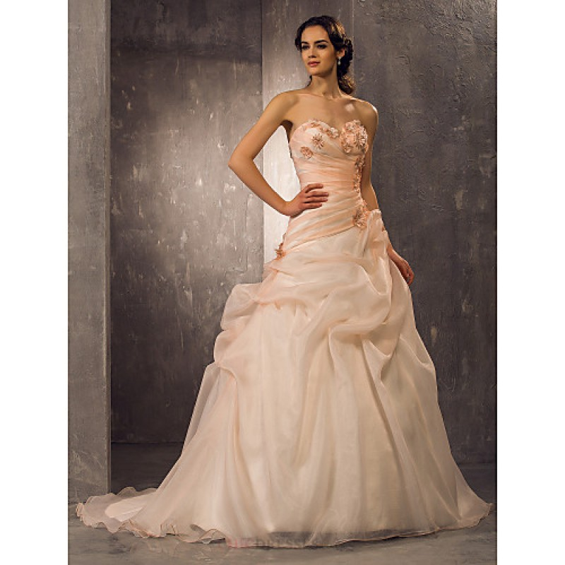 A Lineprincess Plus Sizes Wedding Dress Pearl Pink Color May