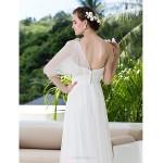 Sheath/Column Plus Sizes Wedding Dress - Ivory Sweep/Brush Train One Shoulder Tulle/Lace Wedding Dresses