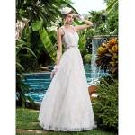 A-line Wedding Dress - Ivory Floor-length Sweetheart Lace Wedding Dresses