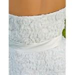 A-line/Princess Wedding Dress - Ivory Knee-length Strapless Lace Wedding Dresses
