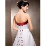 A-line/Princess Plus Sizes Wedding Dress - Ivory Chapel Train Strapless Satin Wedding Dresses