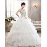 A-line Floor-length Wedding Dress -Sweetheart Tulle Wedding Dresses
