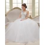 Ball Gown Sweep/Brush Train Wedding Dress -One Shoulder Tulle Wedding Dresses