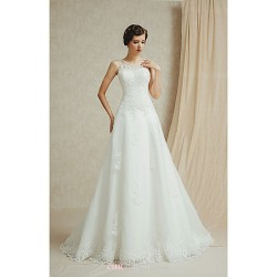 A-line Floor-length Wedding Dress -Sweetheart Satin