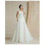 A-line Floor-length Wedding Dress -Sweetheart Satin Wedding Dresses