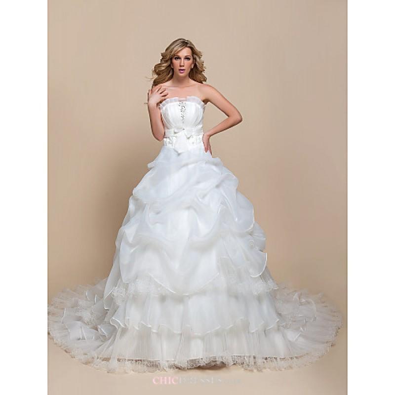 A-line/Princess Wedding Dress