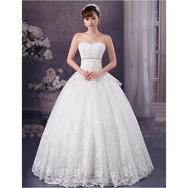 Ball Gown Floor-length Wedding Dress -Sweetheart Lace Wedding Dresses