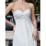 Sheath/Column Plus Sizes Wedding Dress - Ivory Court Train Sweetheart Chiffon Wedding Dresses
