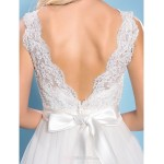 Ball Gown Plus Sizes Wedding Dress - Ivory Court Train Bateau Tulle Wedding Dresses