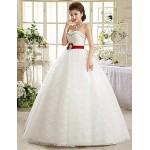 Ball Gown Floor-length Wedding Dress -Strapless Lace Wedding Dresses
