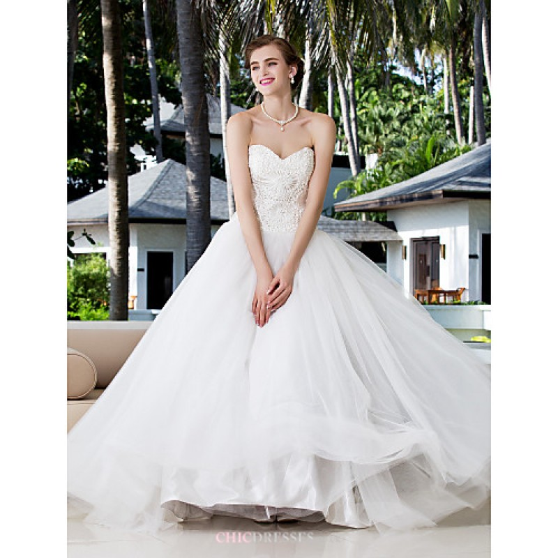 7fc23d27819 Ball Gown Plus Sizes Wedding Dress - Ivory Floor-length Sweetheart Charmeuse Stretch  Satin