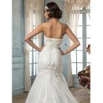 Trumpet/Mermaid Wedding Dress - Ivory Court Train Strapless Satin/Lace Wedding Dresses