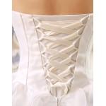 Ball Gown Wedding Dress - Ivory Floor-length Strapless Organza Wedding Dresses