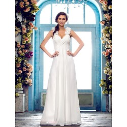 Dress Ivory Petite Plus Sizes Sheath Column Sweetheart Floor Length Chiffon