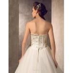 A-line Wedding Dress - Ivory Floor-length Sweetheart Tulle Wedding Dresses