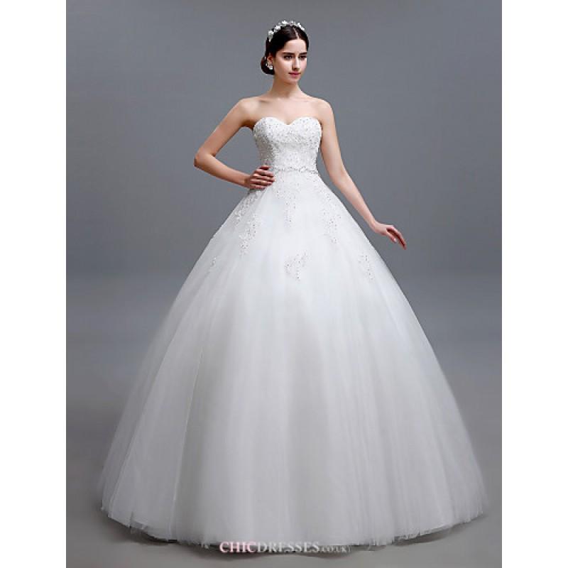 Ball Gown Floor-length Wedding Dress -Strapless Tulle,Cheap Uk ...