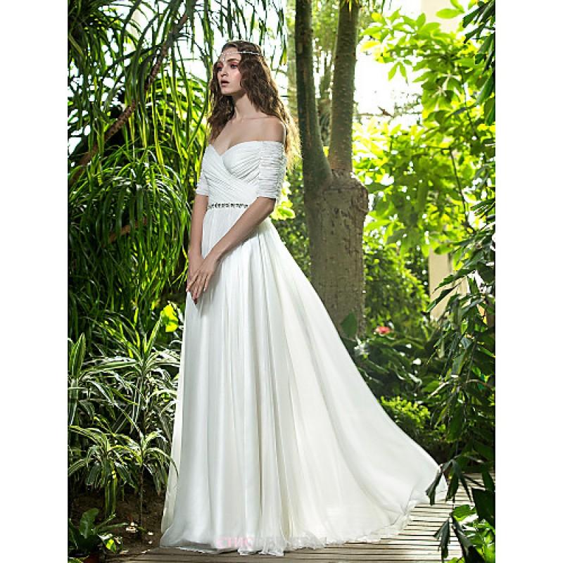 A-line Plus Sizes Wedding Dress