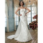 Trumpet/Mermaid Plus Sizes Wedding Dress - Ivory Sweep/Brush Train Sweetheart Lace/Sequined Wedding Dresses