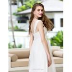 A-line Plus Sizes Wedding Dress - Ivory Court Train Straps Chiffon/Tulle Wedding Dresses