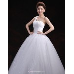 Ball Gown Wedding Dress - White Floor-length One Shoulder Tulle Wedding Dresses
