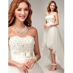 A-line Asymmetrical Wedding Dress - Sweetheart Tulle Wedding Dresses