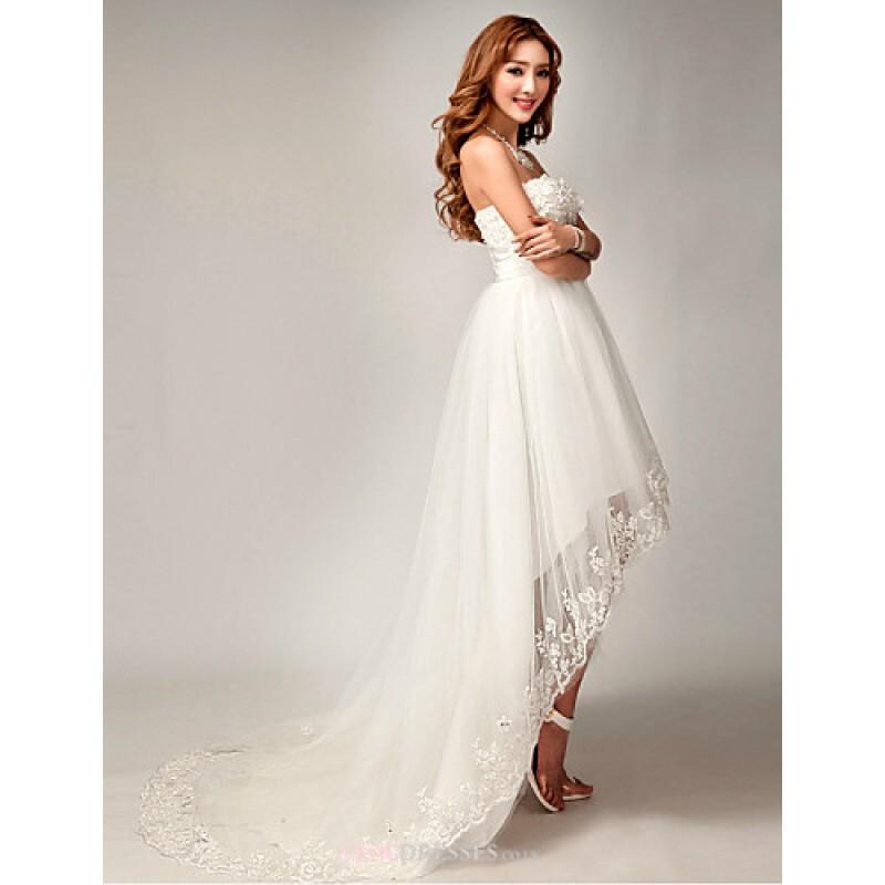 asymmetrical wedding dress uk