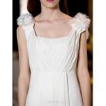 A-line/Princess Plus Sizes Wedding Dress - Ivory Floor-length Straps Georgette Wedding Dresses