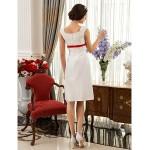 A-line/Princess Plus Sizes Wedding Dress - Ivory Knee-length Square Taffeta Wedding Dresses