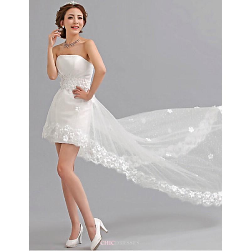 A-line Asymmetrical Wedding Dress