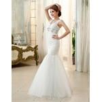 Princess/Ball Gown Wedding Dress - Ivory Floor-length Straps Tulle Wedding Dresses