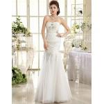 A-line Ankle-length Wedding Dress -Strapless Lace Wedding Dresses