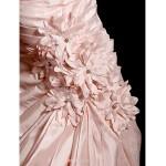 Trumpet/Mermaid Wedding Dress - Blushing Pink Court Train Sweetheart Taffeta Wedding Dresses