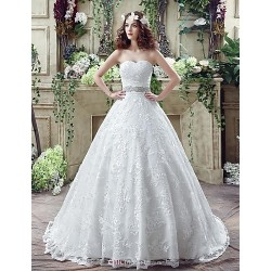 Wedding Dress Ivory Court Train Sweetheart