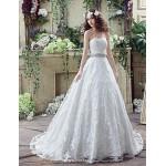 Wedding Dress - Ivory Court Train Sweetheart Wedding Dresses