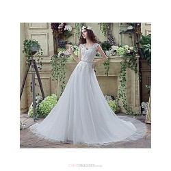 Wedding Dress White Court Train Off The Shoulder Tulle